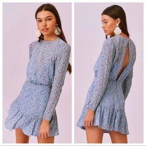 NWT Finders Keepers Blossom Long Sleeve Mini Dress